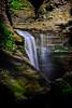 Waterfall on the Gorge trail in Watkins Glen State Park, Watkins Glen, New York.