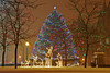 Clinton Square Christmas tree in downtown Syracuse, New York.<br /> <br /> Scott Thomas