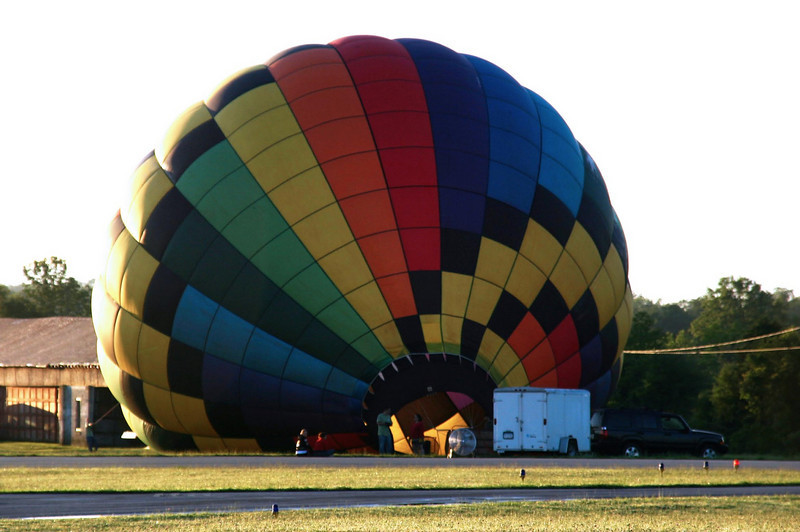Inflating to meet the sun - Randall Airport - Middletown NY renee zernitsky