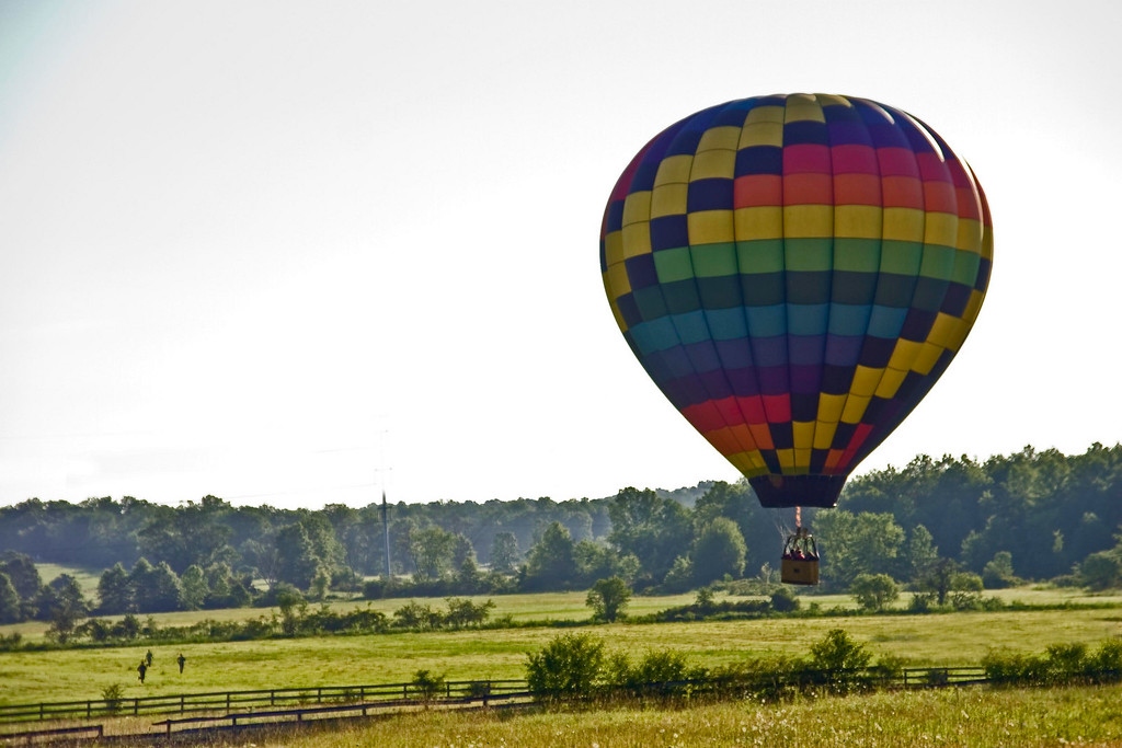Coming in for a landing - Early Morning launch - Montgomery NY