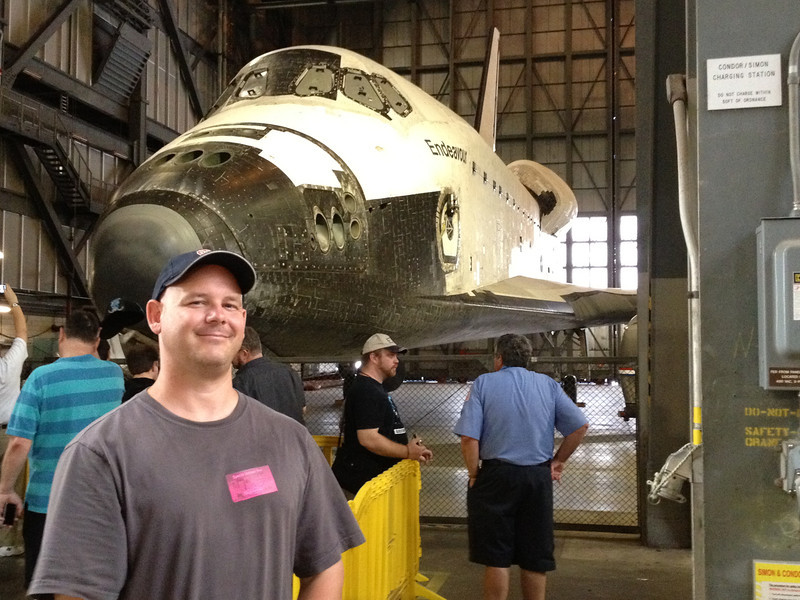 Day 7 - Cape Canaveral Kennedy Space Center<br /> Shuttle Endeavor inside the Vehicle Assembly Building
