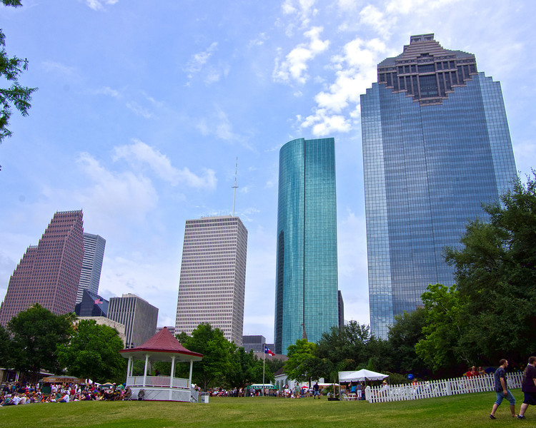 View From Sam Houston Park