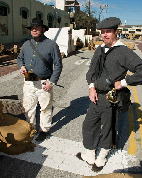 Confederate Navy Men at Dickens on the Strand