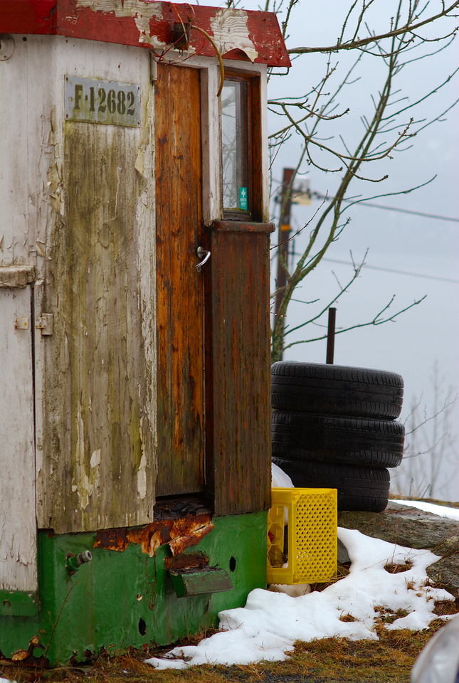 A fish out of water - the cabin of an old fishing boat.