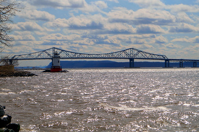 Tappan Zee Bridge and Tarrytown Light House.