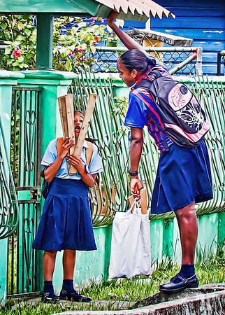 April 02, 2012  School girls  Bocas Del Toro, Panama