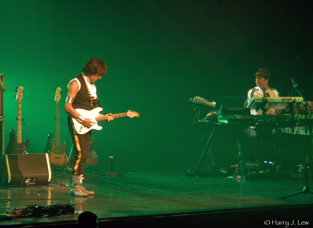 Jeff Beck, guitarist extraordinaire, playing at Conneticut's  MGM Grand.