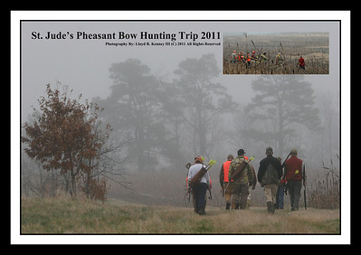 St. Jude's Pheasant Bow Hunting Trip 2011 The hunt took place in Henagar, Alabama on Sunday Feb. 27, 2011. The hunt was auctioned off on Tradgangs web site to benefit St. Jude. Photography By: Lloyd R. Kenney III (C) 2011 All Rights Reserved. Tradgang.com is 100% totally devoted to traditional bowhunting. Visit the Tradgang.com site for more info: http://www.tradgang.com/
