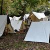 Campsite for the Civil War Reenactment in Huntington Beach CA