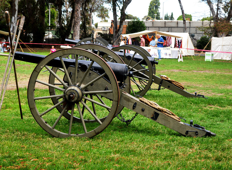 Real Cannon Used at the Civil War Reenactment in Huntington Beach CA