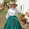 Pretty Girl at Camp Site of Civil War Reenactment at Huntington Beach CA