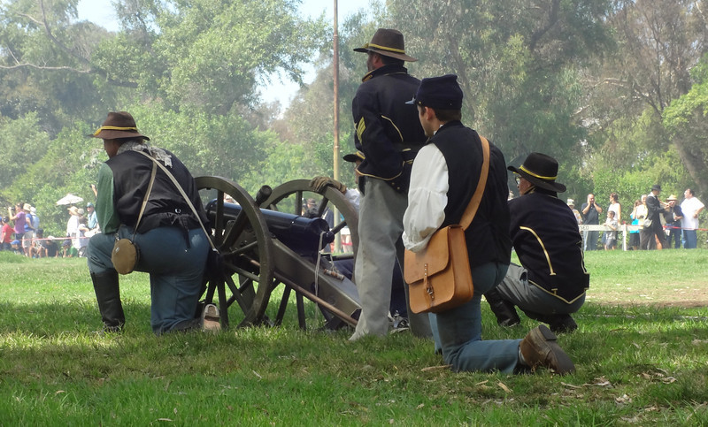 Getting Ready to Shoot Again at the Civil War Reenactment in Huntington Beach CA