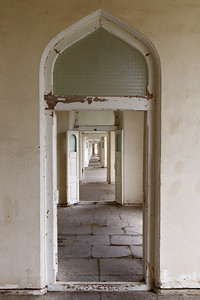 Doorways in a corridor in the Chowmahalla palace.