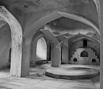 Turkish style bath near one of the Qutb Shahi tombs.