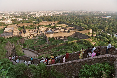 View of the rest of Golconda and the Hyderabad city from the top of the fort.