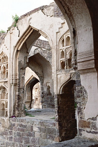 Golconda Fort - near the area where the king's family lived