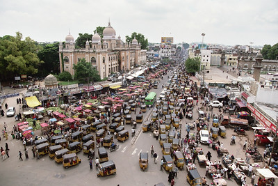 View of the streets from Charminar.