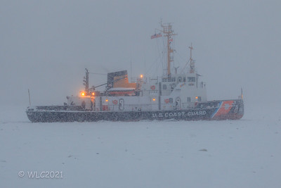 Us Coast Guard 106 Morro Bay  Icebreaker Tug on the South Chanel breaking ice