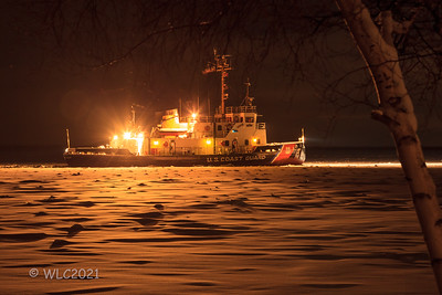 Us Coast Guard 106 Morro Bay  Icebreaker Tug on the South Chanel breaking ice