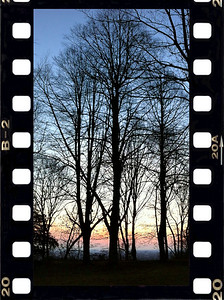 6.30am - Jogging around sunrise - Teutoburger Wald forest Bielefeld, Germany 03/2012 iPhone