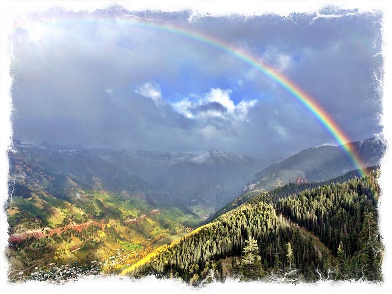 Rainbow over Telluride