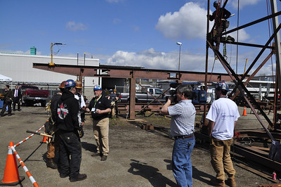 Photos taken at BCIT during the 2012 BCIT Open House with displays from the the First Year (Ironworker ELTT) class and the Ironworkers Local 97 Apprenticship Competition.