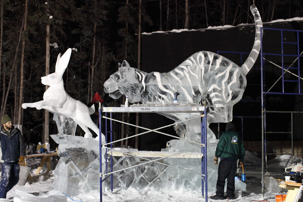 Ice sculpture captured on March 4, 2011 at the World Ice Art Championships 2011 in Fairbanks, Alaska  Canon EOS 5D Mark II with Canon EF 50mm f/1.2L lens