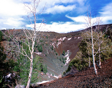 Nobody, North America, USA, New Mexico, Ice Cave and Bandera Volcano,Volcano Crater