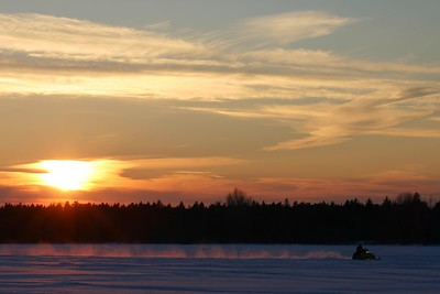 The sunset was lovely.  Even with the constant buzz of skidos !