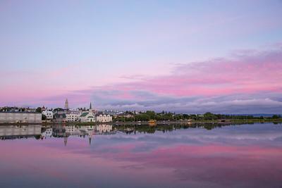 Sunset in Reykjavik