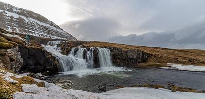 Kirkjufell Mountain nearby waterfall
