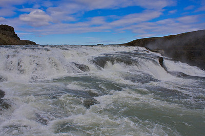 Iceland has a lot of waterfalls. They come from the melting glaciers tremendous sites to see.