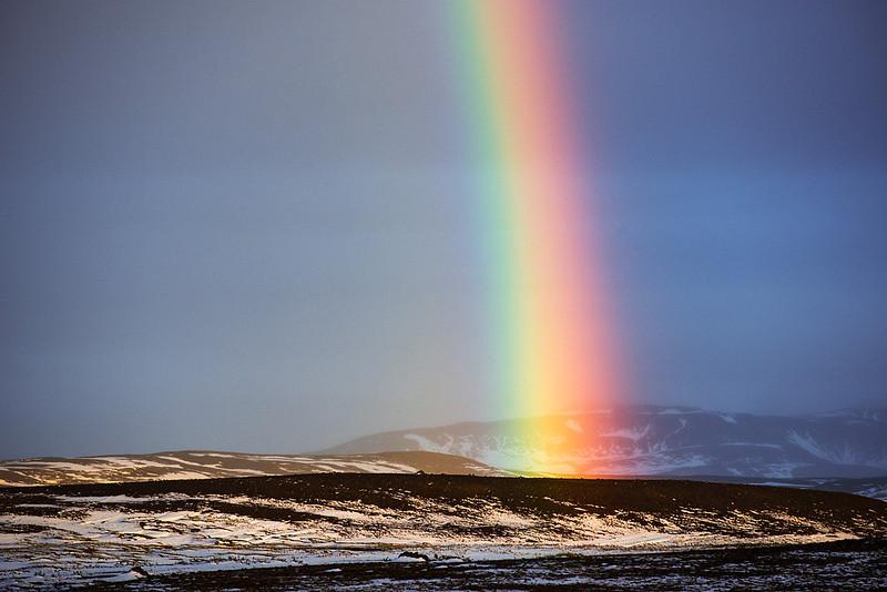 Ice 237 Iceland Rainbow