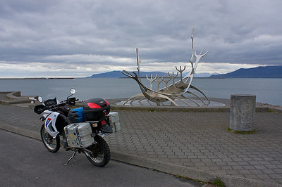 I rented this motorcycle and this was one of the first sites that I saw in Iceland after jumping on the bike.