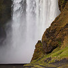 Here we are at Skogafoss - a wide, tall, powerful fall. The rain kept many people from coming and visiting it.