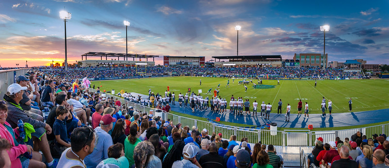UWF Football at Sunset