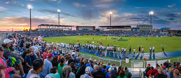 UWF Football at Sunset