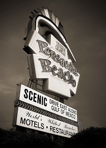 ***Pensacola Beach Sign Black and White