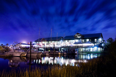 The Fish House and Atlas Oyster Bar at Night