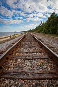 The tracks on the Bay. The Bluffs