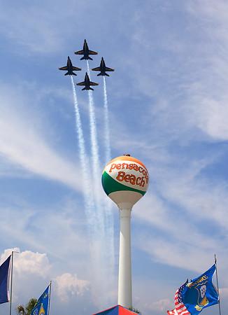 Blue Angels on Pensacola Beach