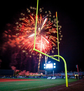 UWF Football Fireworks