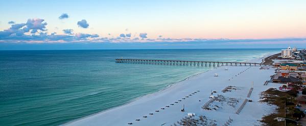 Pensacola Beach Morning Pano