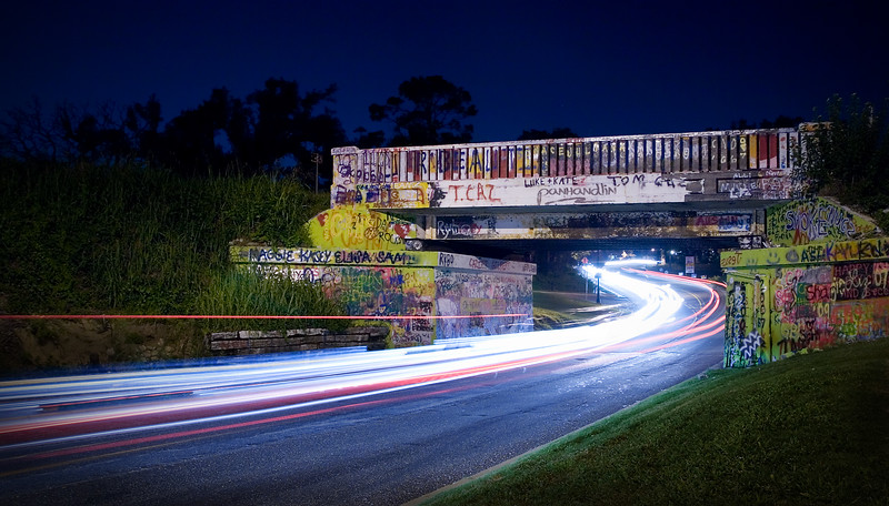 Graffiti Bridge at Night