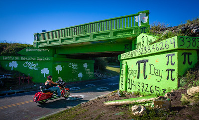 Graffiti Bridge all greened up.