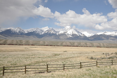 Mountain landscape at  Birch Creek Valley, Idaho. 5.15.10