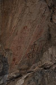 Birch Creek Pictograph panel.  Birch Creek Valley, Idaho. 5.15.10