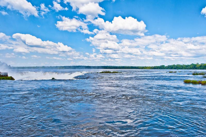IGUAZU FALLS, Argentina 116.  Approaching the Devil's Throat.  Iguazu River feeds in.