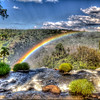 IGUAZU FALLS, Argentina 113.   Rainbows form easily when the sun's rays hit the spray and mist.