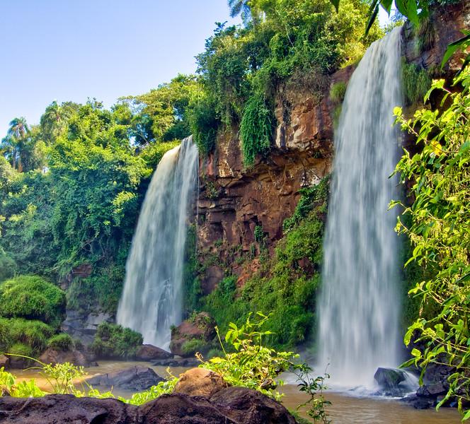 IGUAZU FALLS, Argentina 110.   One of many smaller side waterfalls.